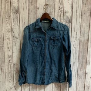 Maurice's button down denim top size small